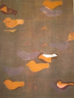 'Peace' monoprint, 20 x 24, $475.00