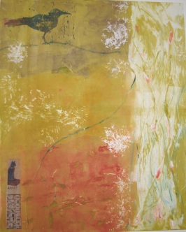 'Springtime' monoprint, 20 x 24 $475.00